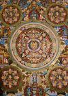 Old Thangka Mandala + Nepal Buddha Fine + Lots Of Gold 14 5/8x11 13/16in