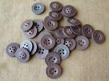 Original German WWII 30 Un-Issued Uniform/Shirt Buttons 15mm