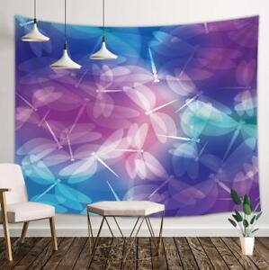 Abstract Pattern Dragonflies Tapestry Wall Hanging Decor for Living Room Bedroom