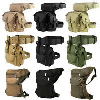 Waterproof Motorcycle Waist Fanny Pack Hip Rider Tactical Military Drop Leg Bag