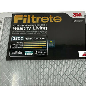 """Pack Of 2 Filtrete White Ultrafine Particle Reduction Air Filters Size 20X20X1"""""""