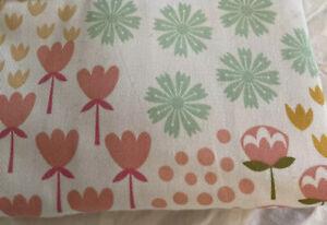 "Pillowfort Multi Floral Print 42""X63"" Panel Pink Green NEW"