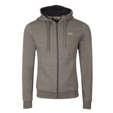 New Lacoste Men's Sport Hoodie Fleece Tennis Sweatshirt Full Zip SH7609 Pitch