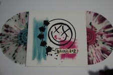 Blink 182 SELF-TITLED Vinyl - Clear w/Pink and Green SPLATTER