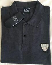 Men's Emporio Armani EA7 Short Sleeve Polo Shirt Grey Size-Small RRP £75
