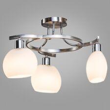 Rotario Ceiling 3 Light Satin Silver/Chrome With Catarina Glass - Modern