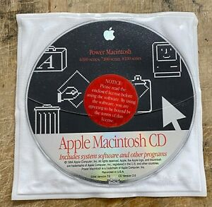 Apple Power Macintosh 6100-7100-8100 series Original Software CD OS7.5