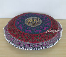 """32"""" Mandala Round Floor Indian Cushion Cover Room Decorative Pillow Pouf Cover"""