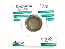 1902 U.S. Barber - Dime - 10c - NET-VF  *1763
