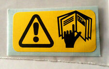 CLASSIC ROVER MINI COOPER MAYFAIR CITY HANDBOOK WARNING STICKER SMB32