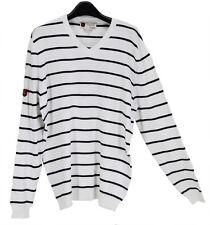 NWT iliac golf Bert LaMar White Striped Sweater Long Sleeves Size XL