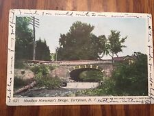 Tarrytown NY Vtg Postcard HEADLESS HORSEMAN'S BRIDGE Posted 1904 Undivided Back
