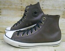 CONVERSE All Star CHUCK TAYLOR Hi Top Shoes Men 9, Women 11 Brown Suede Leather