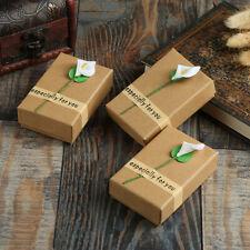 Retro Kraft Jewelry Box Gift Cardboard Boxes Personalized Creative Jewelry Box