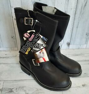 NWT! CHIPPEWA Size 7EE Souders STEEL TOE Engineer MOTORCYCLE Boots Made in USA