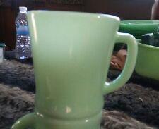 """Fire King"" Jadeite Green Jade-ite D Handle Coffee Mug Circa 60's ERA MARKING"