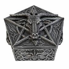 Baphomets Hoard Pentagram Box 8cm High Baphomet's Nemesis Now