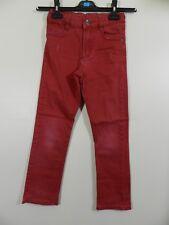 pantalon jeans rouge 3 Pommes 8 ans be (C499)
