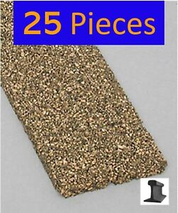 HO Cork Roadbed ~ New 2021 ~ 3 Feet x 5mm (25 Pieces) Midwest Products ~ 3013