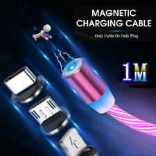 Magnetic LED Light Cable Fast Charging Magnet LED Wire Cord Charger For iPhone