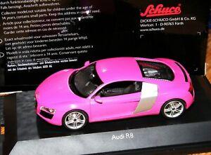 """Schuco"""" Audi R8 pink - Leserwahl Zeitschrift Modellfahrzeug 2007- RARITÄT""""1:43"""