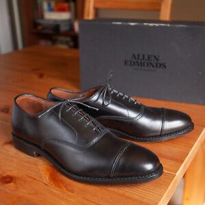 Allen Edmonds Park Avenue Black Leather Cap Toe Oxfords - Men's 9.5 D