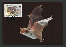 BULGARIA MK WWF ANIMALS BAT FLEDERMAUS MAXIMUMKARTE MAXIMUM CARD MC CM d4432