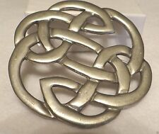 St. Justin Pewter Lugh's Knot Brooch (large)