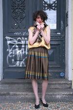 Damen Seidenrock 80er True VINTAGE 80´s women elegant silk skirt mit Unterrock
