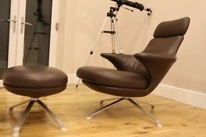 B&B italia radar leather armchair chair swivel james irvine design £5200new