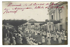 Religious Procession ARARAQUARA / S.PAULO church STa.CRUZ. 1920s R.Photo BRAZIL