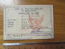 Vietnam war _ARVN_ID CARD_ South Vietnam Army ID card_THAI VAN NAM