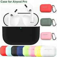 For Apple AirPods Pro 2019 Wireless Charging Case Silicone Protective Cover Skin