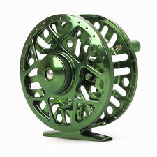 CNC Machined Aluminum Fly Fishing Reel 5/6 Disc Drag Large Arbor Green Color