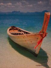 ART POSTER~Phuket Thailand Island Oldest Community Boat on Water Horizon New~
