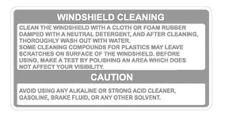 YAMAHA RZ350 WINDSHIELD WARNING DECAL GRAPHICS LIKE NOS