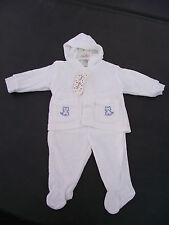 BNWT Baby Girls or Boys Size 1 Jelly Beans Brand White Pants and Jacket Set