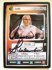Autographed  Star Trek ccg -  Lumba   (Armin Shimerman)