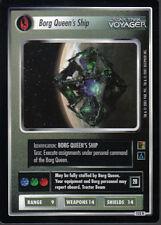 STAR TREK CCG THE BORG RARE CARD BORG QUEEN'S SHIP