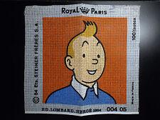 RARE Superbe Canevas à broder Tintin  Royal Paris 1983 ETAT NEUF