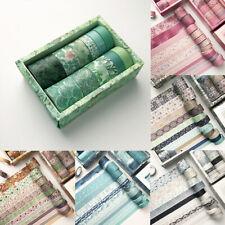 12 Rolls Adhesive Washi Tape Japanese Style Paper DIY Planner Masking Tape Tool