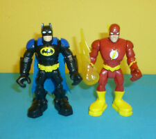 "DC Super Friends Hero World Flash & Batman Action Figures 4 3/4"" DC Comics"
