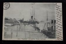 WHITE STAR LINE SS TEUTONIC ORIGINAL UNUSUAL LIVERPOOL POST CARD 1902