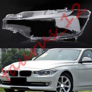 For BMW 3 series F30 2013-2016 Left Side headlamp cover transparent PC+Glue
