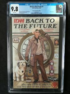 BACK TO THE FUTURE #1 HEROES & FANTASIES EDITION DOC BROWN VARIANT CGC 9.8 RARE
