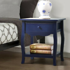 Bedside Table Cabinet Lamp Side Nightstand Unit Storage Shelf Drawer Wooden