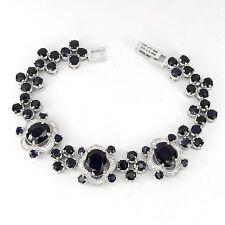 _LDN_Sublime Bracelet Saphir Bleu nuit naturel_Argent 925