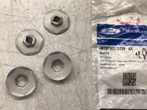 4 Pack 2006-2010 Ford Mercury OEM Front Bumper Cover Nut W707502-S439