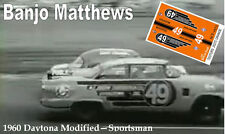 CD_2573 #49 Banjo Matthews  1955 Ford modified  1:64 Scale Decals ~OVERSTOCK~