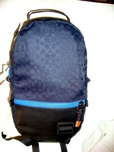 ~*NWT Coach Signature Canvas With Leather Coach Patch Pacer Backpack Reversible